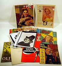 20Pcs Elvis Shirley Temple VINTAGE & ANTIQUE STAGE & SCREEN EPHEMERA Magazines Programs Oliver Damn Yankees Maude Adams Little Minister Hit Parade Film Daily New Movie Seven Wonders Photographs