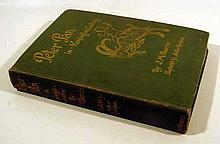 J. M. Barrie PETER PAN IN KENSINGTON GARDENS 1906 First US Printing Antique Novel Juvenile Literature Color Plates Rackham Illustrations