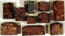 10 Pc. Antique WOOD & COPPER PRINTING BLOCKS Comical Cartoon Characters Funny Animals People Children's Books Illustrations Barnhart Bros. & Spindler