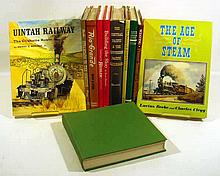 11V Hardcover Dust Jackets RAILROAD HISTORY Steam Trains Locomotives Geared Model Western Central Southern Pacific Pennsylvania Semaphores Signals Uintah Narrow Gauge Rio Grande Dictionary of Terms Cars