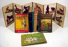8V Antique & Vintage COLLECTIBLE CHILDREN'S BOOKS Farm Animals Horses Ponies Kangaroos Easter Rabbits Will James Smoky Cowboys Merry-Go-Round Raccoon Bear Dust Jackets Accordion Board Book
