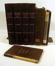 8V Antique HISTORY OF MASSACHUSETTS Middlesex County & People Manual Woodstock John Endicott Salem Essex Institute Pilgrims King Philip's War Malden