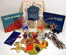 Vintage Collectible AVIATION, SPACE FLIGHT, & WALT DISNEY EPHEMERA Flying Airplanes CAA U.S. Navy Publications Eastern Airlines Galaxy Space Scout Bottles Astronaut Lady & the Tramp Mobile 1955 Fantasia Original Program 1940