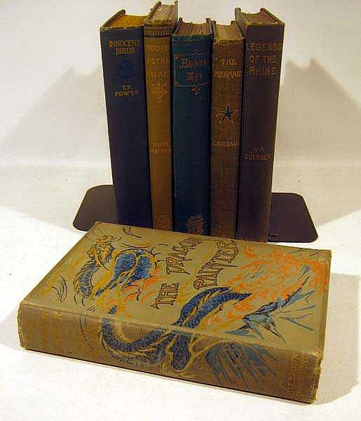 6V Handsome DECORATIVE ANTIQUE LITERATURE Rhine Legends Olive Schreiner T.F. Powys Mermaid