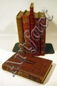 6V Red Half-Leather Decorative ANTIQUE LITERATURE La Fontaine 18th C. Wit Goldoni
