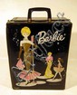 1962 Vintage BARBIE CASE & ORIGINAL WARDROBE Doll Clothes Accessories Snorkel Set Shoes Curlers Garter Belt