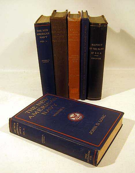 6V John D. Long New American Navy Fenimore Cooper ANTIQUE US NAVY HISTORY Notes Naval Progress Ordinance Report International Law & Notes