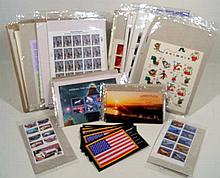 100PCS Korean War STAMP COLLECTION & FIRST DAY COVERS c2004 NOS Aviation Modern American Architecture Jim Henson Muppets Classic Cars Air Force Louisiana Purchase Pan-American Inverts Albert Sabin Constellations