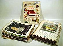 150 Pc. Vintage FORD AUTOMOBILE HISTORY Advertising 1920s-1960s Thunderbird Lincoln Fairlane Datsun 280-Z Delage Duryea Duesenberg