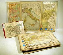 35 Pc. Antique 1890s WORLD MAPS Sicily Cuba Japan Tibet Scotland Egypt Baluchistan Persia Ireland