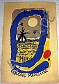 4Pc Joan Miro Drawings Painting ART/FILM POSTERS Jean Cocteau Hommage Schiele In Prison Arts Council
