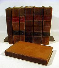 7V Antique Leather-Bound LAW BOOKS  Legal Court Proceedings 1792 Sugden on Vendors 1832 Starkie on Evidence 1828