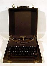 Vintage 1930s REMINGTON PORTABLE TYPEWRITER Manual Rem-Ette Lightweight Travel All Original Good Working Condition