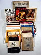 Vintage ART-RELATED EPHEMERA Books Exhibit Catalogs Italian Drawings Prints Brucke Group Marsden Hartley John Marin La Tour Ingres Max Reinhardt 20th C. American Art French Cathedral Louis Kahn