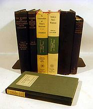 7V Vintage & Antique PLATO & ARISTOTLE Ancient Greek Philosophy Platonism Metaphysics Epistemology Phaedo Opuscula Spiritual Life George Santayana Logic Ethics
