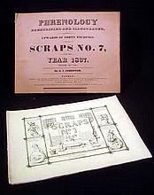 2V Antique SCRAPS MAGAZINE No. 7 Phrenology 1837 No. 1 New Series 1849 Sketched D.C. Johnston Cartoons Social Satire