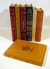 7V Vintage Fancy LEATHER-BOUND LIMITED EDITIONS Franklin Library 100 Greatest Books Huckleberry Finn Edgar Allan Poe T.S. Eliot Treasure Island Farewell to Arms Alice in Wonderland The Great Gatsby  Decorative