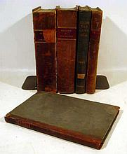 5V Antique Decorative 19th CENTURY LEGAL TREATISES Leather-Bound Phillips on Insurance 1840 Civil War Excise Tax Laws New York State Chancery Court Rulings 1834 Espinasse Reports Nisi Prius 1805