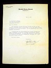 Vintage 1966 ROBERT F. KENNEDY AUTOGRAPH LETTER U.S. Senate Original Signature Lindsay Monument Man