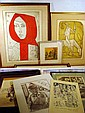 10 Pc. Original ARTIST-SIGNED PRINTS & PROOFS irving Amen Etchings Red Shawl Don Quixote W.W. Beecher Kathy Jakobsen Stephanie Canizares