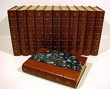 12V Victor Hugo WORKS 1888-1891 Antique Novels Les Miserables Notre Dame Toilers Of The Sea Man Who Laughs French Literature Decorative Leather Plates