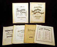 6 Pc. Antique CONFEDERATE CIVIL WAR & 1850s ANTEBELLUM SHEET MUSIC Rebel Songs Jefferson Davis March Richmond on James Southern Cross When This Cruel War is Over Stand by Flag Sound Not Those Bugle Notes Again