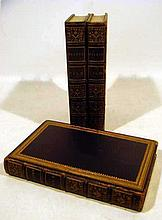 3V THE POETICAL WORKS OF JOHN MILTON 1845 Antique Epic Poetry English Literature Decorative Leather Frontispiece