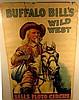 Authentic Original BUFFALO BILL'S WILD WEST & SELLS FLOTO CIRCUS Poster Chromolithograph Ephemera 1914 Harry Tammen Frederick G. Bonfils