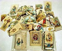 Antique Catholic HOLY CARDS Fancy Die-Cut Lace 19th C. Saints Virgin Mary Jesus Sacred Heart German Italian