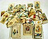 Antique Catholic HOLY CARDS Fancy Die-Cut Lace 19th C. Saints Virgin Mary Jesus Sacred Heart German Italian