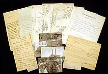 14 Pc. Antique MILITARY CORRESPONDENCE Ephemera Civil War Ordnance Armaments Washington Navy Yard Postcards Lewis Nixon Naval Architect George Bomford W.M. Folger R.L. Phythian W.C. Whitney B.F. Tracy