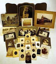 Antique PHOTOGRAPHS Tintypes Cabinet Cards Group Portrait Pictures