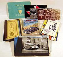 30V Vintage 1950s-1970s AUTOMOBILE OWNER'S MANUALS Cars General Motors GM Cadillac Buick Pontiac Chevrolet American Motors AMC Jaguar 420 Diagram Poster 1937 Cord 1914 Cadillac Instructions Handbook