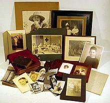 Antique PHOTOGRAPHS Tintypes Cartes de Visite Cabinet Cards Victorian Leather Albums Framed Formal Portraits Children Toys U.S. Navy WWI Nurses