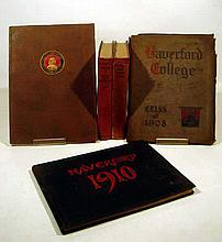 5V Antique HAVERFORD COLLEGE HISTORY Centenary Observation 1933 Yearbooks 1908 1910 Rufus Jones