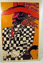 Vintage Original EDUARDO MUNOZ BACHS POSTER Los Cuentos de Jack London 1973 Film Cuban Artist Silkscreen