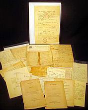 Antique MILITARY EPHEMERA Boer War Discharge 1814 U.S. Senate Legislation Personal Correspondence Armstrong Gun Capt. M.P. Mix Lord Raglan