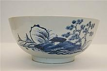 Qing dynasty export porcelain ,large bule and white bowl