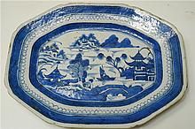 19 Century export porcelain Blue and White plate