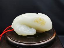 A xinjiang hetian white jade£¨ziliao£© horse  tableware