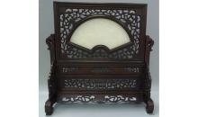 Wood carving table screen