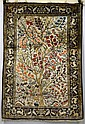 Silk Qum rug, south central Persia, 20th century,