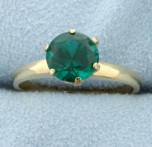 Lab Emerald Ring