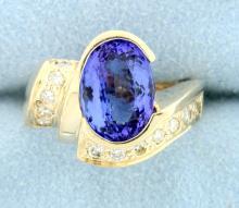3.61 carat Tanzanite & Diamond Ring
