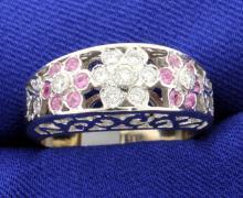 Diamond & Pink Sapphire ring