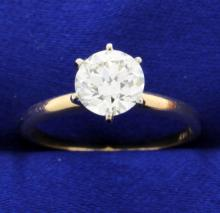 Vintage 1.20 carat European cut Diamond solitaire ring