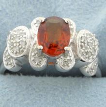 Malaysian Garnet & Diamond ring