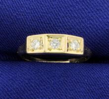 Vintage 3 Diamond 14k Ring