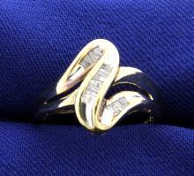 Diamond Baguette Fashion 10k Ring