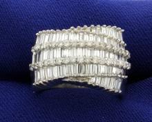 18k Diamond 3 Carat Ring by Designer